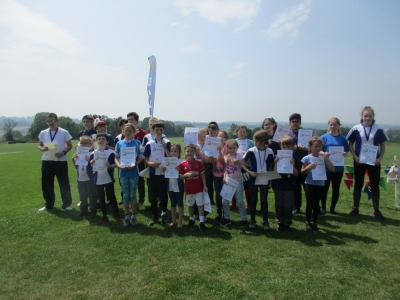 Juniors with their medals, Source:Heather Brown