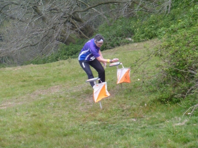 Alison setting off, 1st Leg W120+, Source:Sarah Howes