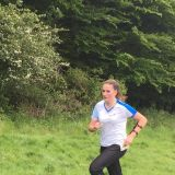 Ffion striding to the Finish at Angmering, Source:Neil Bricknell