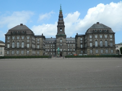 If you look closely you can see a control in the centre of this mage of Christiansborg in the sprint final, Source:Jean Fitzgerald